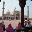 die größte Moschee in Dehli