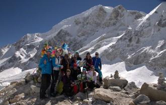 am Larke Pass 5135 m