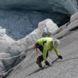 Eisausbildung am Gletscher
